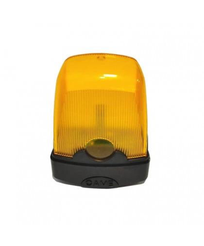 Лампа сигнальная желтая CAME 001KLED 230B/24В светодиодная  для ворот и шлагбаумов