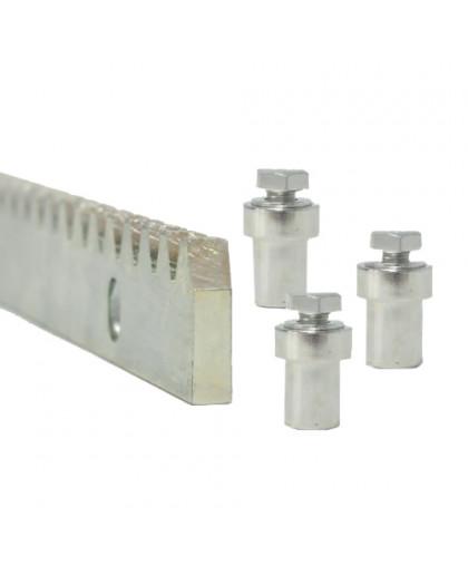 Рейка оцинкованная стальная зубчатая 8 мм