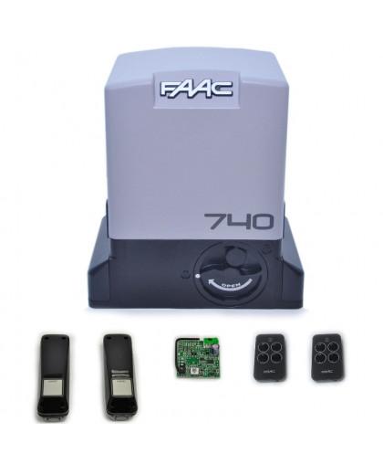 Комплект автоматики для откатных ворот FAAC 740 KIT